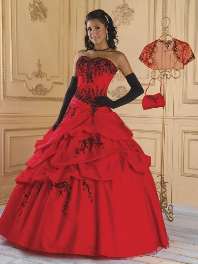 Blackene Plesove Saty Cerveno Cerne Gothic Plesove Saty Svatebni
